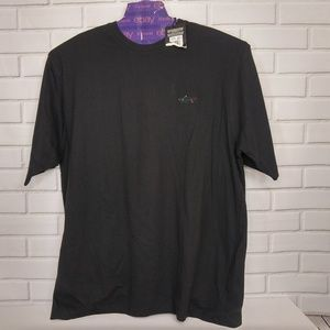 Greg Norman Golf T Shirt Black Short Sleeve NEW